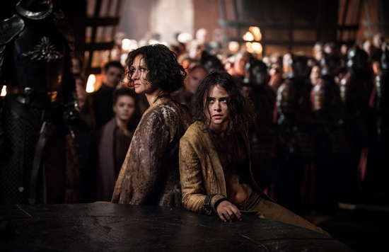 """Indira Varma and Rosabell Laurenti Sellers in """"The Queen's Justice"""""""