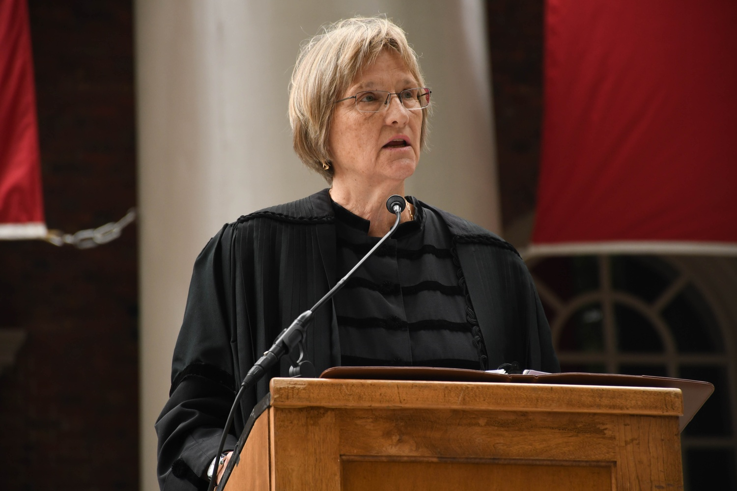 University President Drew G. Faust argued the Corporation's intervention will stabilize a policy penalizing members of single-gender social groups.