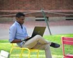 Studying in Harvard Yard