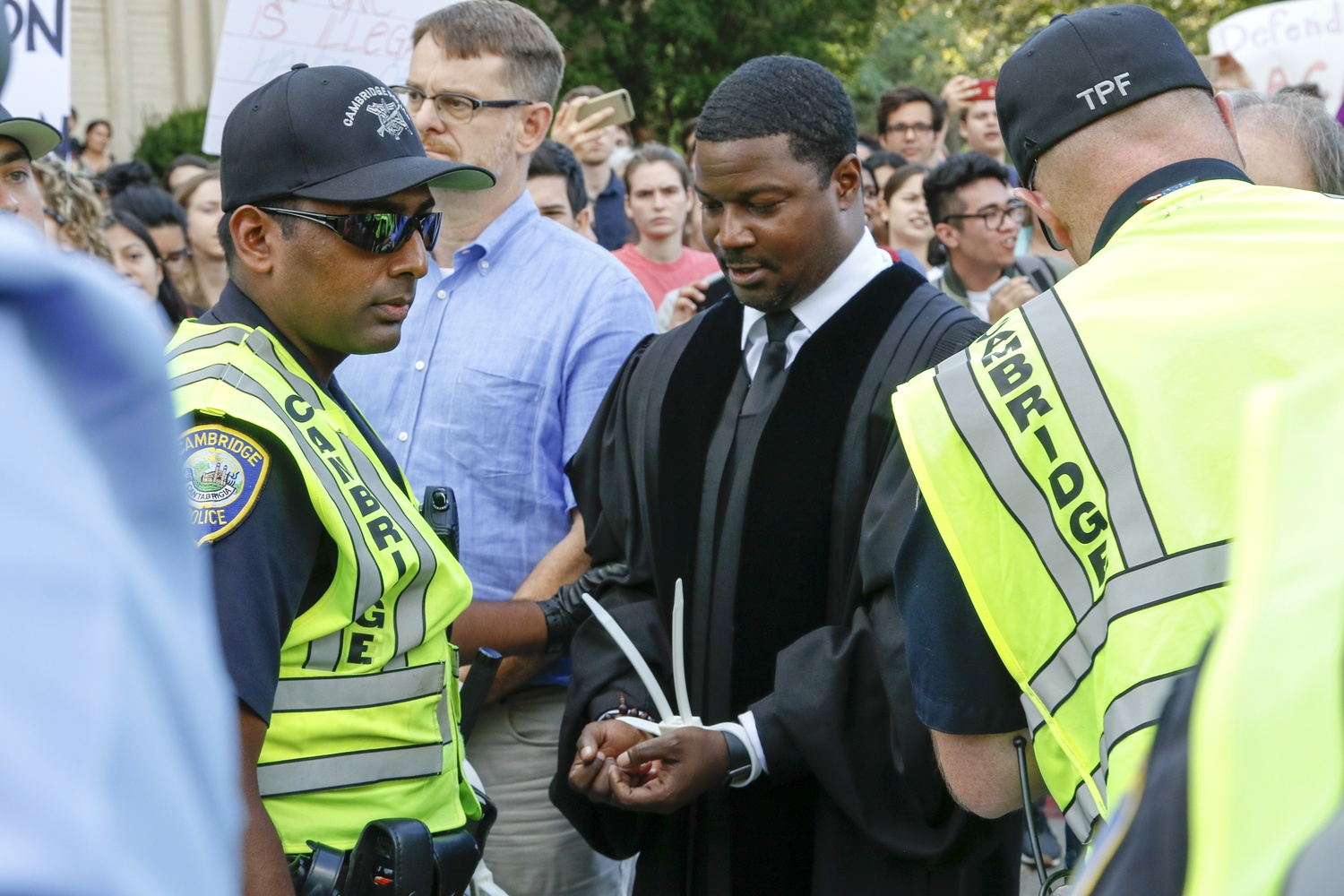 Reverend Jonathan L. Walton was arrested at a protest against the repeal of the Deferred Action for Childhood Arrivals program on Thursday afternoon.