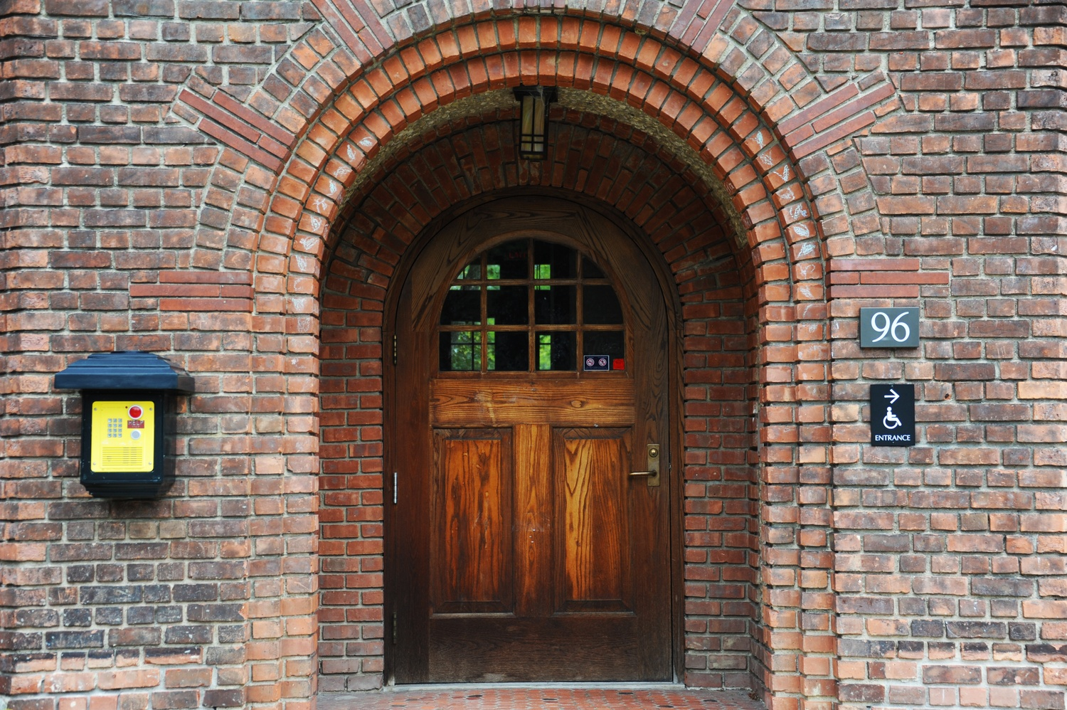 The front door of Agard House, formerly Delta Phi.