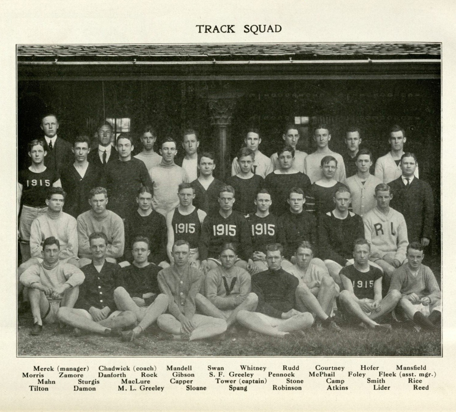 John C. Rock, who attended Harvard for college and medical school, spent his entire career studying reproduction as a faculty member and physician. He is pictured here (second row from back, fourth from left) with his track team.