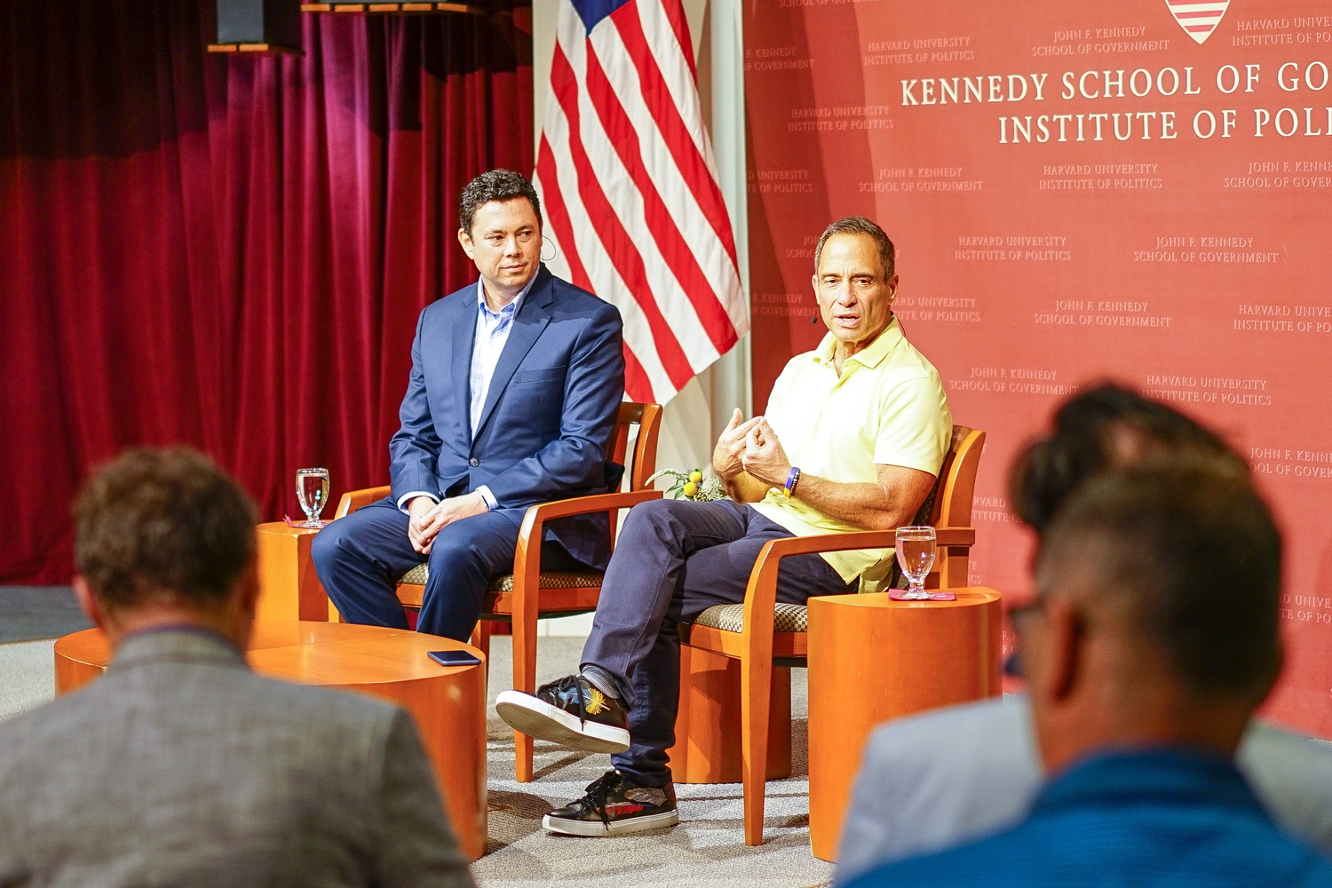 TMZ Founder Harvey R. Levin and former Congressman Jason E. Chaffetz discuss privacy in the age of technology at the Harvard Kennedy School.