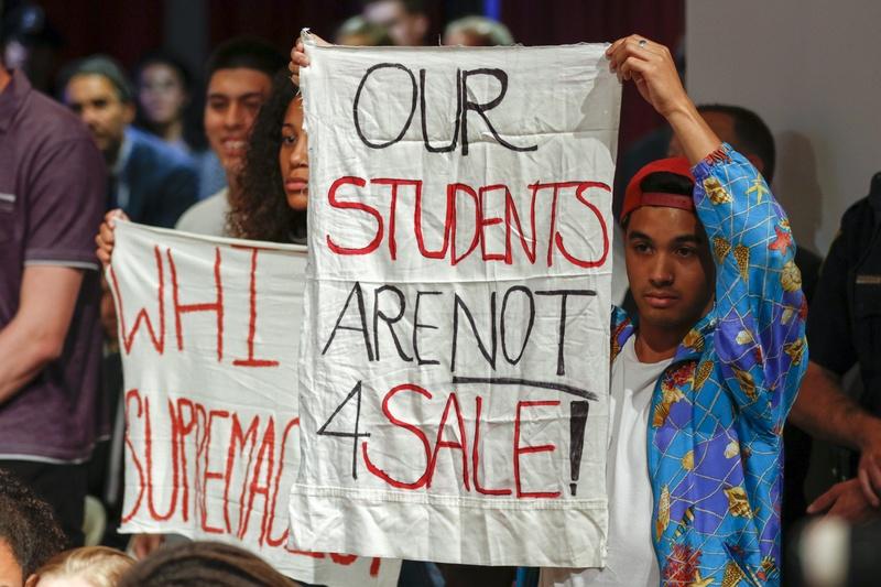 Protesting DeVos