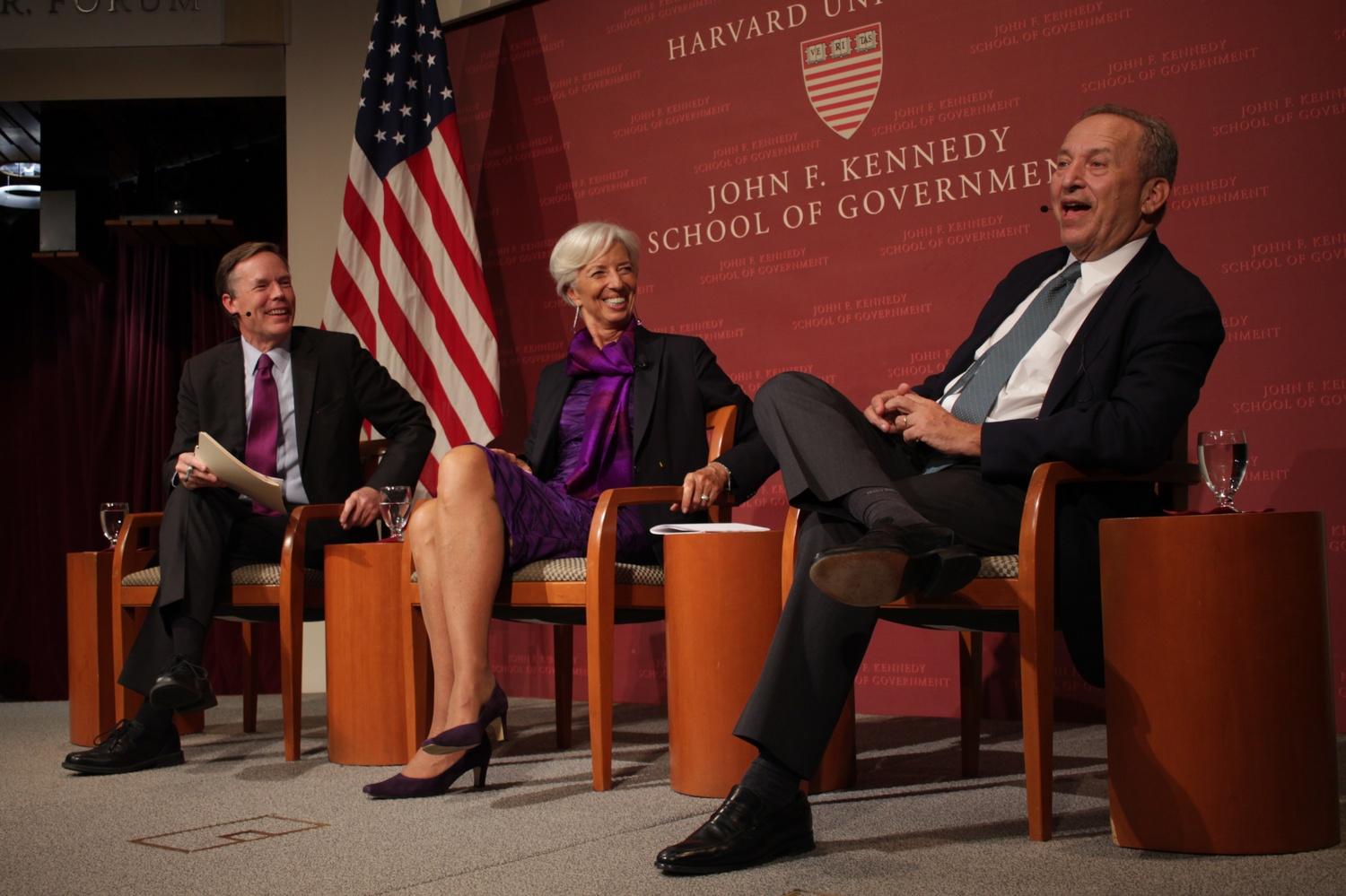 IMF Managing Director Christine Lagarde speaks at a 2017 event. Harvard economist Gita Gopinath will join the IMF as its cheif economist in January