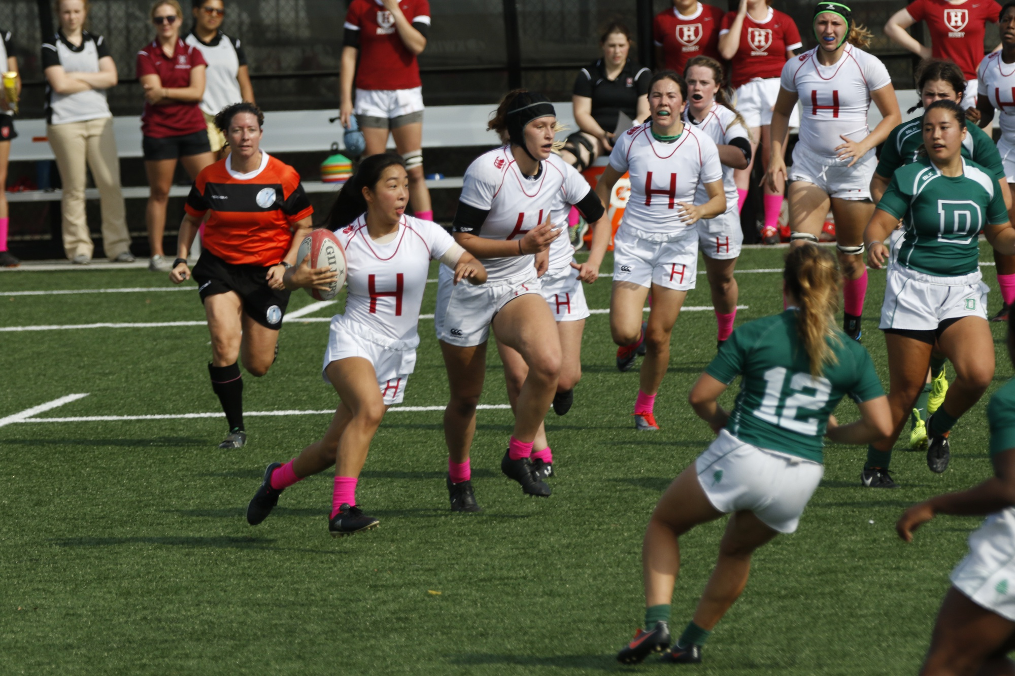 Harvard mounts an offensive attack against Dartmouth on Saturday in an attempt to respond to points the Big Green had made.