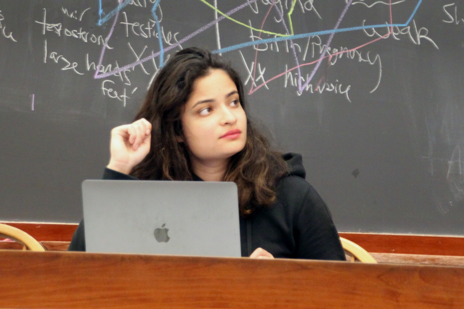 Undergraduate Council president Yasmin Z. Sachee at the Council's weekly meeting Sunday night.