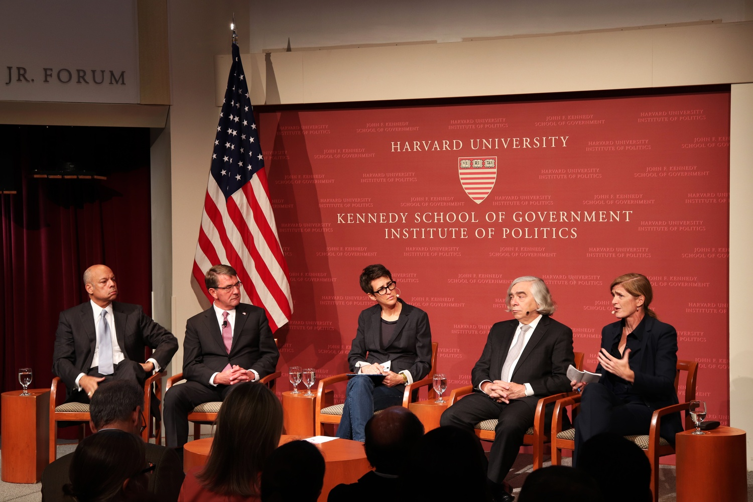 Former Obama administrations officials discuss national security at the IOP Monday.