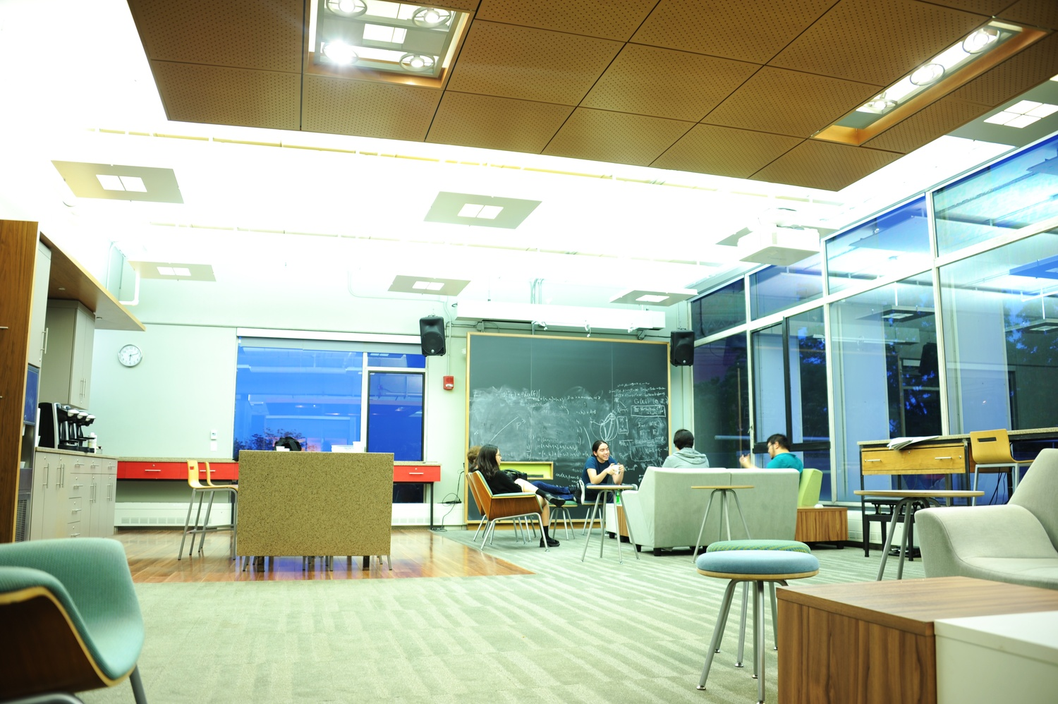 The Math Department's common room.