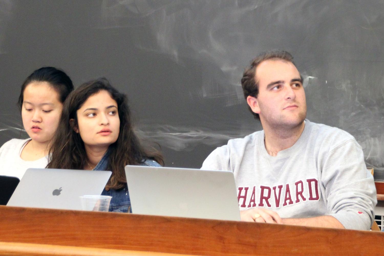 UC President Yasmin Z. Sachee '18 and UC Vice President Cameron K. Khansarinia '18 .