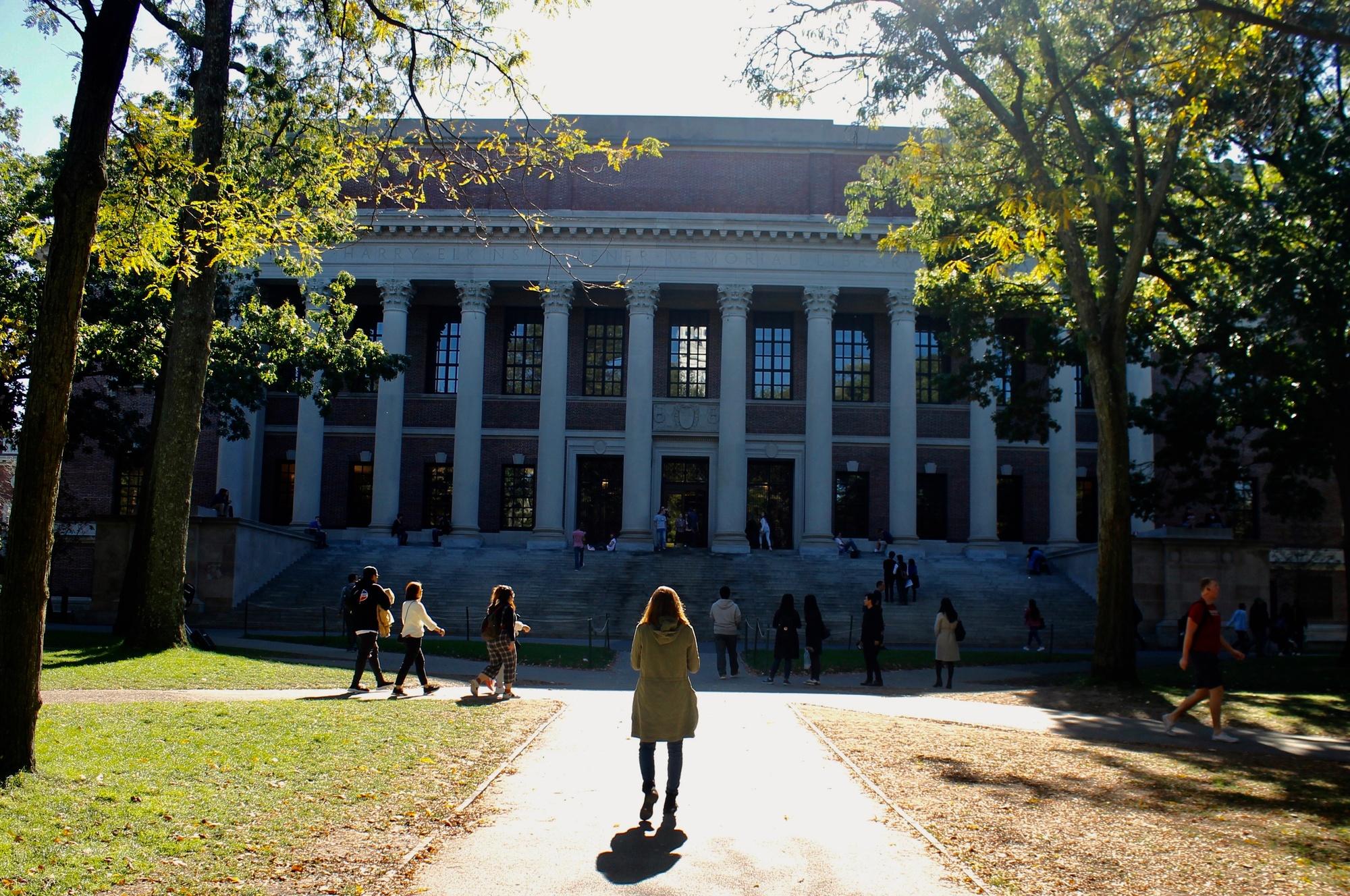 Widener Library, a fixture of Harvard Yard.