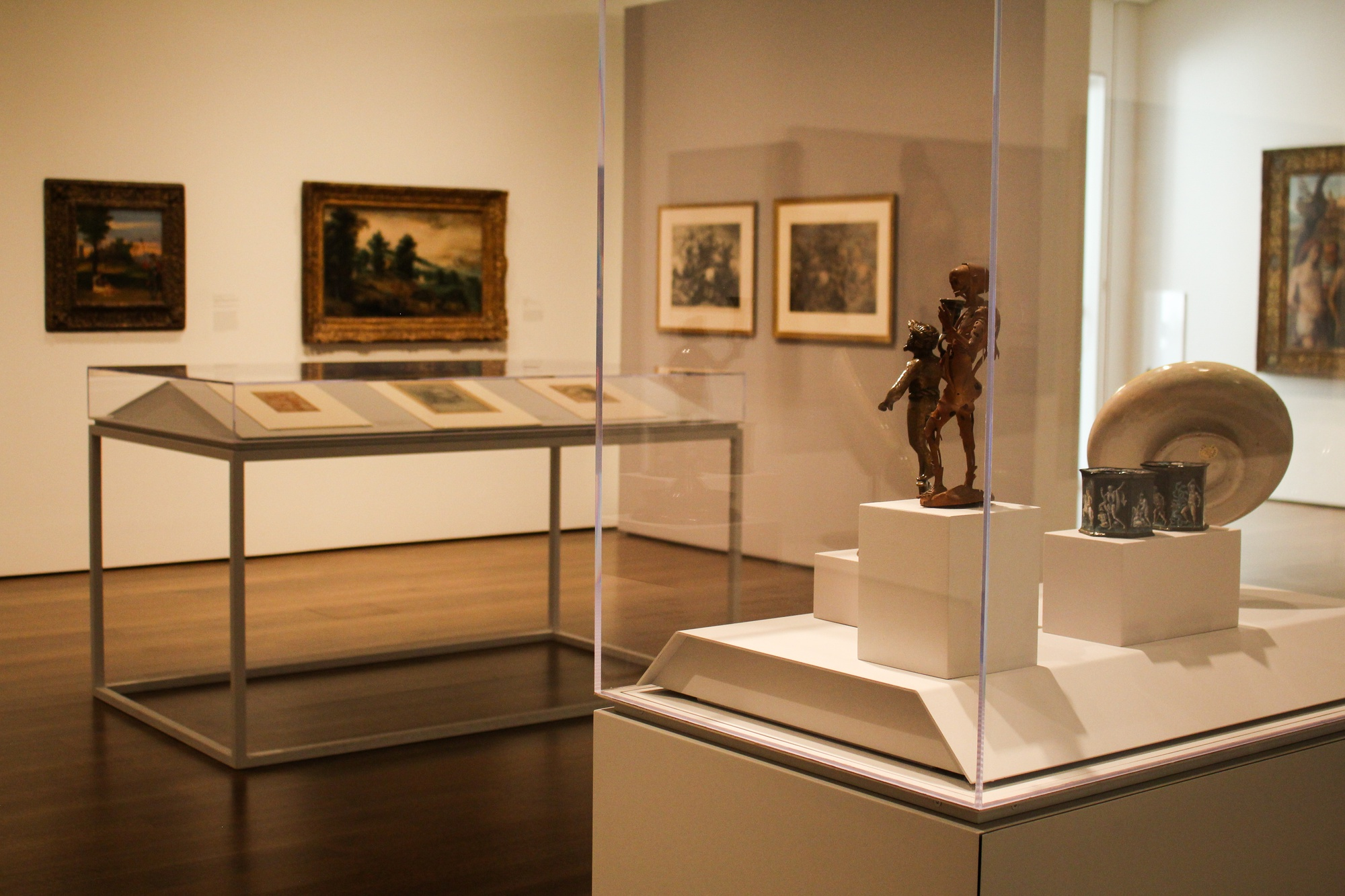 A gallery at the Harvard Art Museums.