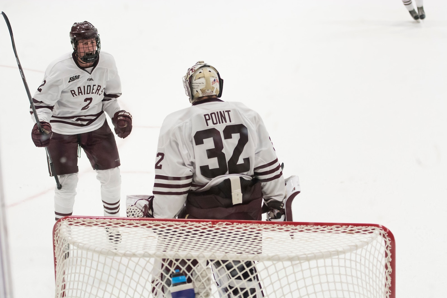 Colgate's stud netminder Colton Point demonstrated why he sits atop the NCAA in goals against average and save percentage, as he held Harvard to just one goal on 31 shots.