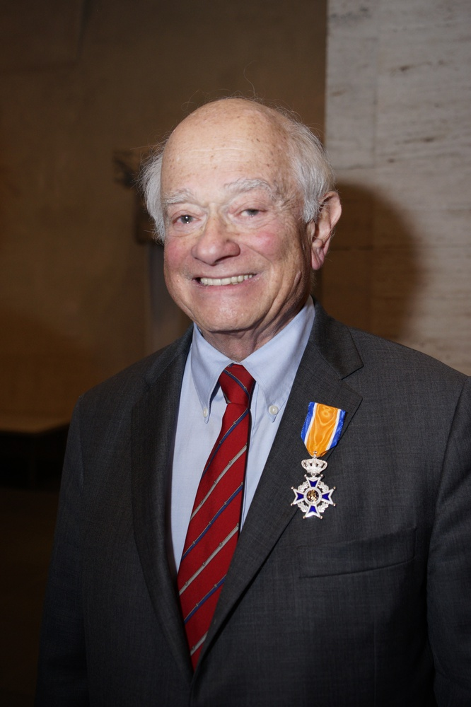 George S. Abrams, newly appointed Knight in the Order of Orange-Nassau of the Kingdom of The Netherlands. Photo by Steve Gilbert.