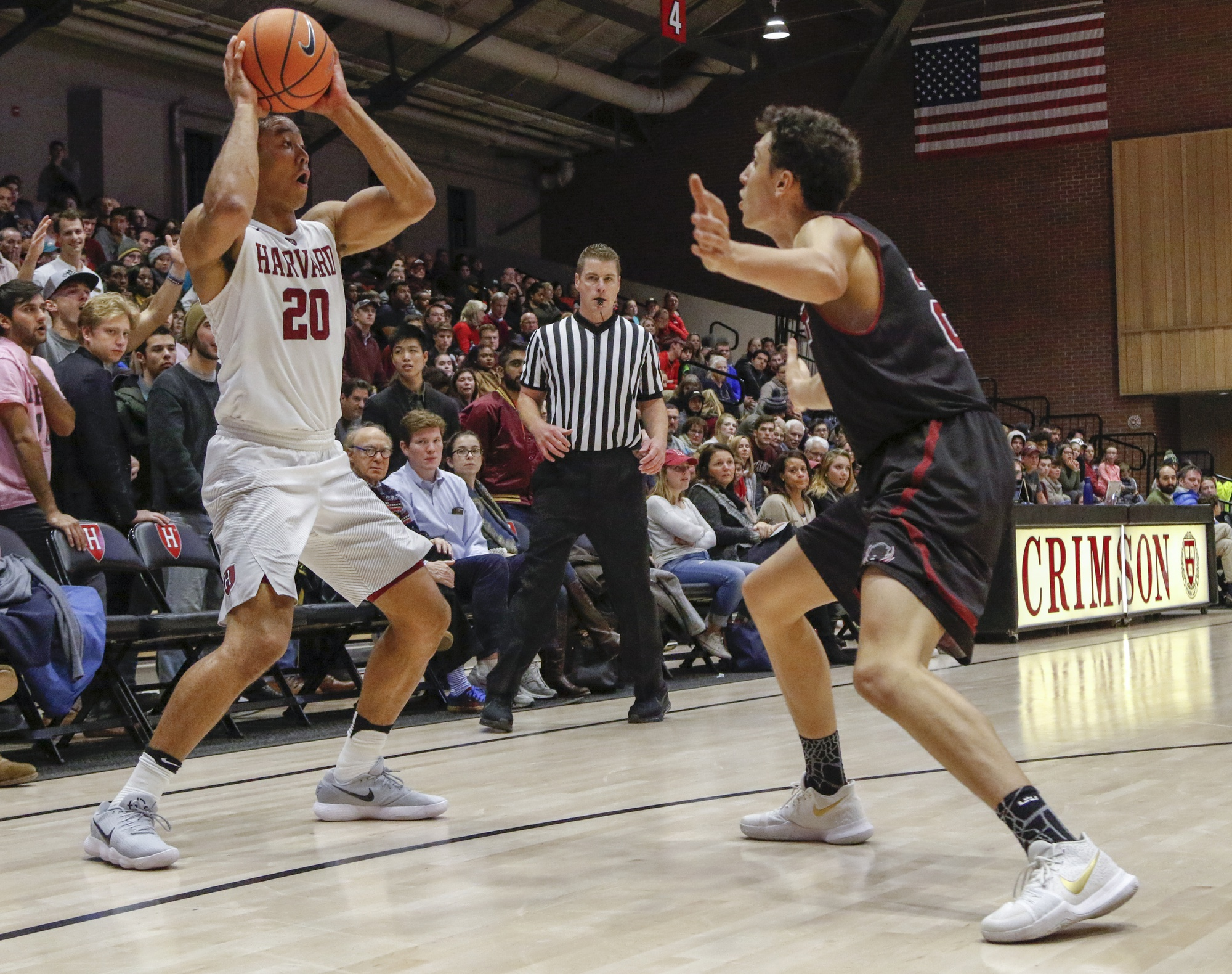 Sophomore wing Justin Bassey led the Crimson into a Thursday night matchup with Holy Cross. Despite his efforts, Harvard dropped an anomalous game to the Crusaders, primarily due to a slew of turnovers.