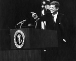 JFK at podium