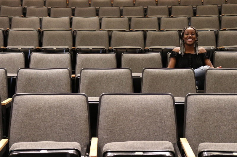 Solange Azor in Fong Auditorium