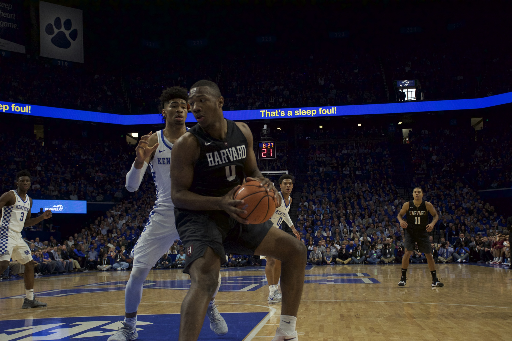 Sophomore forward Chris Lewis goes to work in the post in previous action against Kentucky.