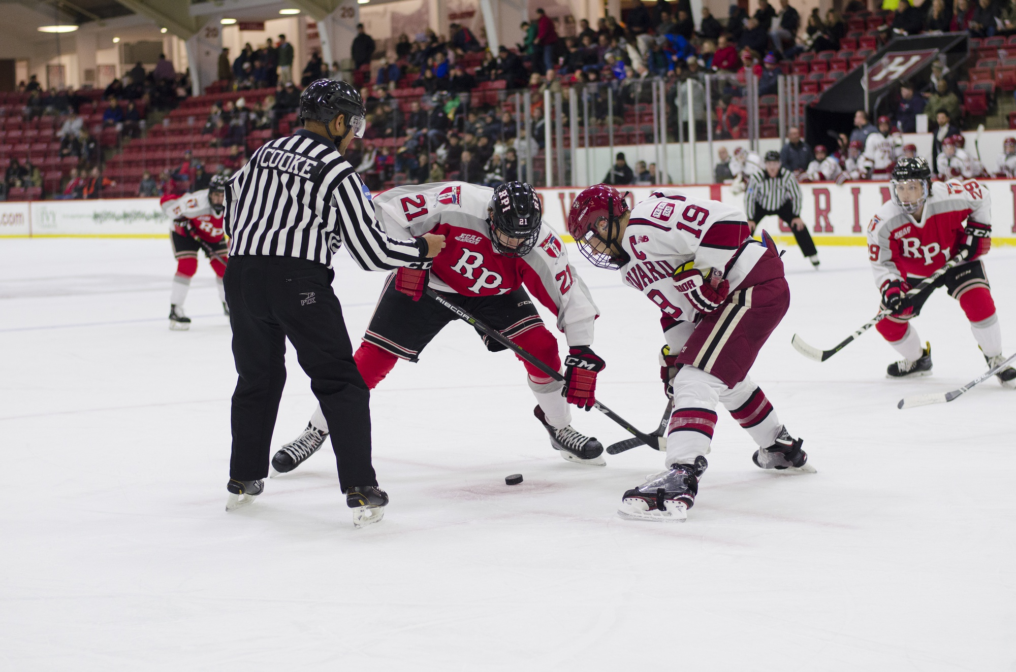 The Crimson nabbed a pair of ECAC wins this weekend and has taken another step in the road back to a top spot in the conference by surpassing .500.