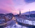 Purple Sky in the Square