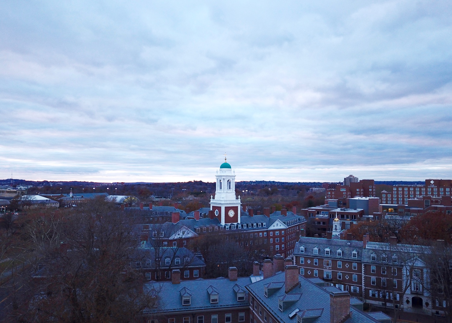 An aerial shot of Eliot House, one of the College's 12 undergraduate houses.
