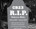 Rest in Peace Hebrew Bible