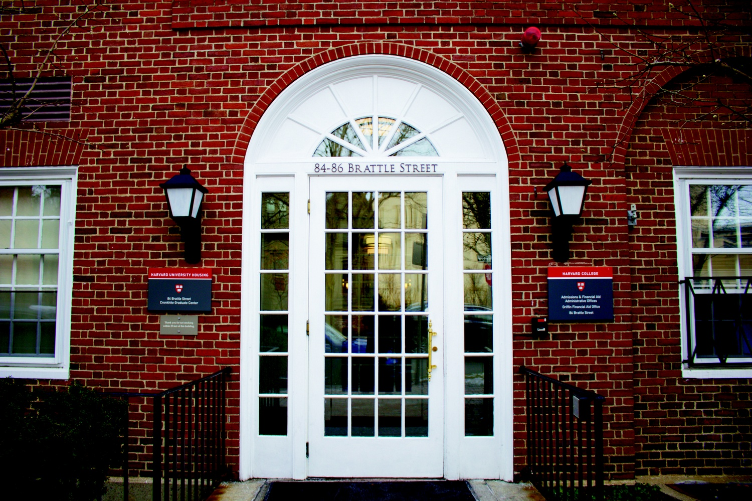 The Office of Admissions and Financial Aid is located at 86 Brattle Street.