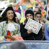 Mila Kunis as the Hasty Pudding's Woman of the Year
