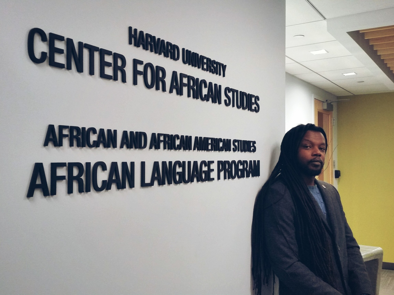 Sunn m'Cheaux, a Gullah instructor for the university, stands inside the Center for African Studies. This is the second semester that the Creole language has been offered to students.