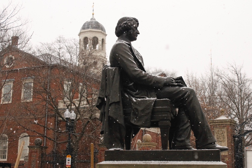 A Tale Of Two Statues Magazine The Harvard Crimson