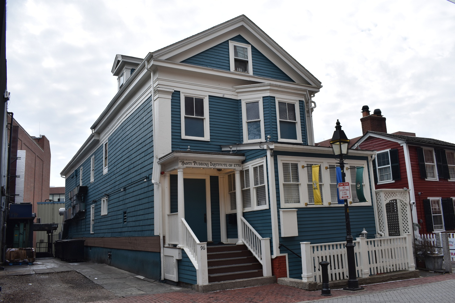 The building at 96 Winthrop St. — formerly home of the Hasty Pudding Institute of 1770 — is set to be home to seafood chain The Boiling Crab.