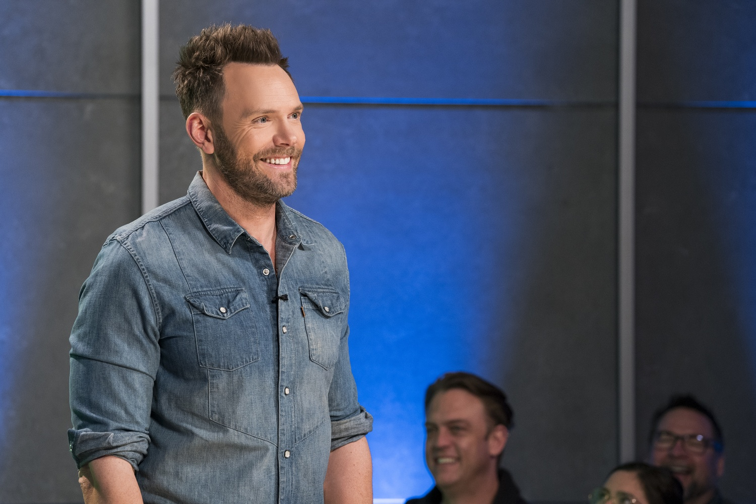 Joel McHale on the set of his new, eponymous Netflix comedy series.