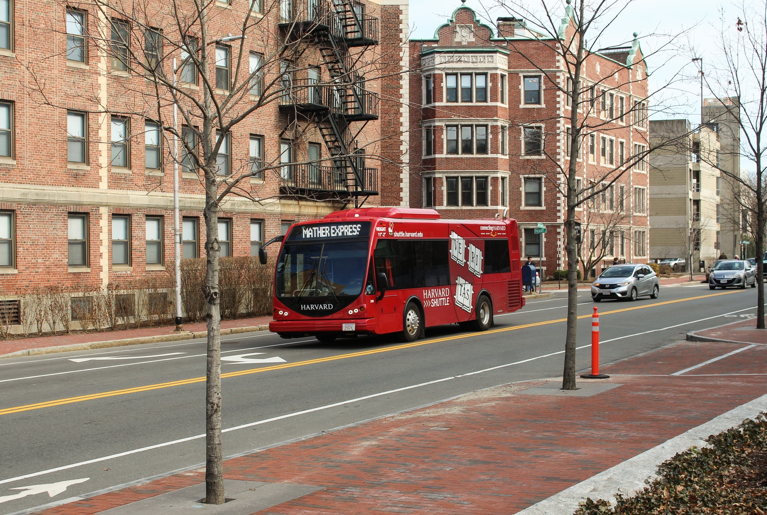 Harvard purchased four electric shuttle buses — which will enter service later this year — to reduce its fossil fuel emissions.