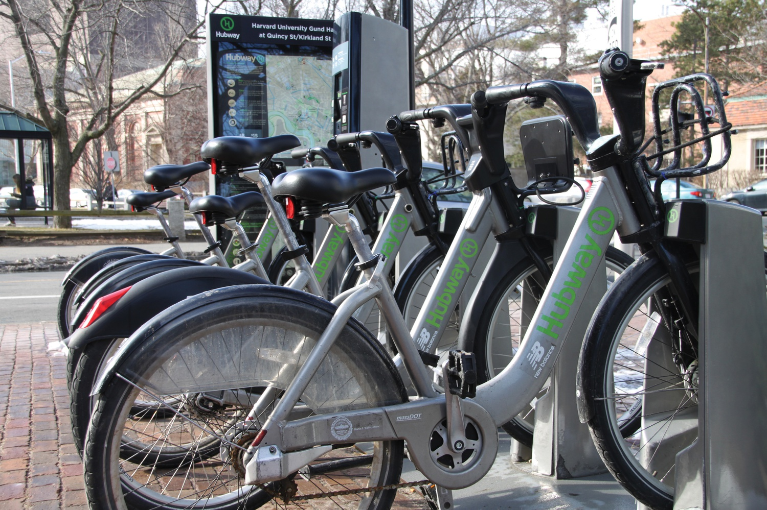 Located right outside Gund Hall of Harvard's Graduate School of Design, this Hubway Station is just one of the many in the Boston area.