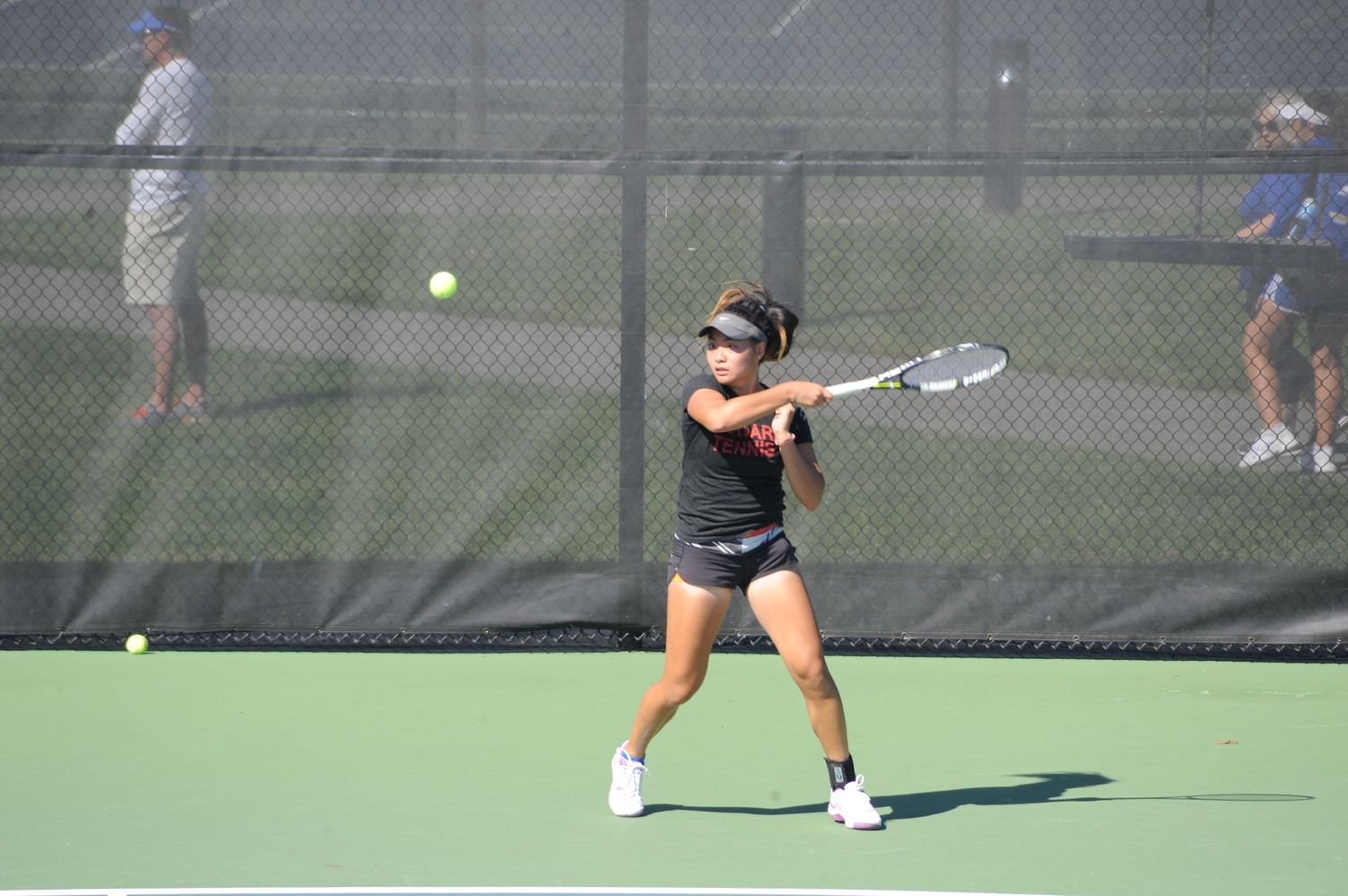 The women's tennis team closed out February with two home losses.