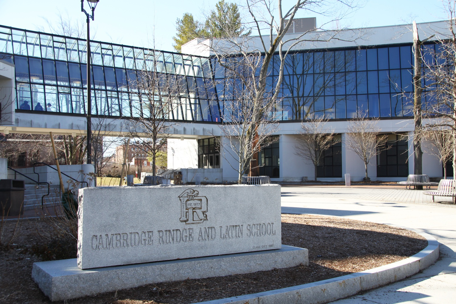 Harvard and MIT donated funds to support a temporary shelter at the Cambridge Rindge and Latin School.