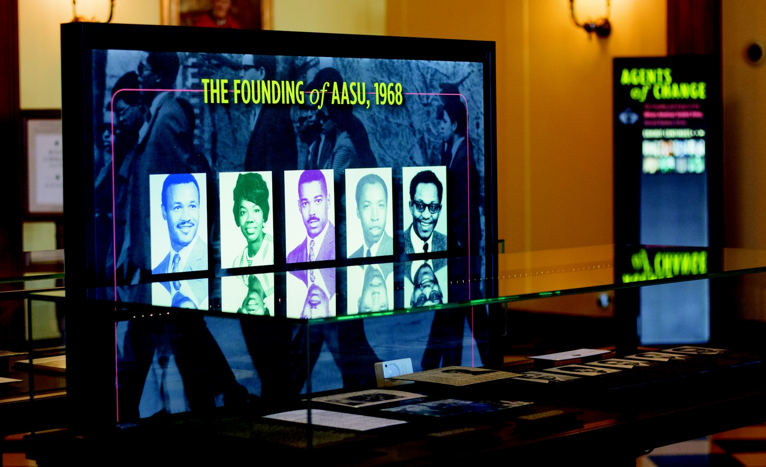 An exhibit at the Business School's Baker Library commemorates the 50th anniversary of the HBS African-American Student Union.
