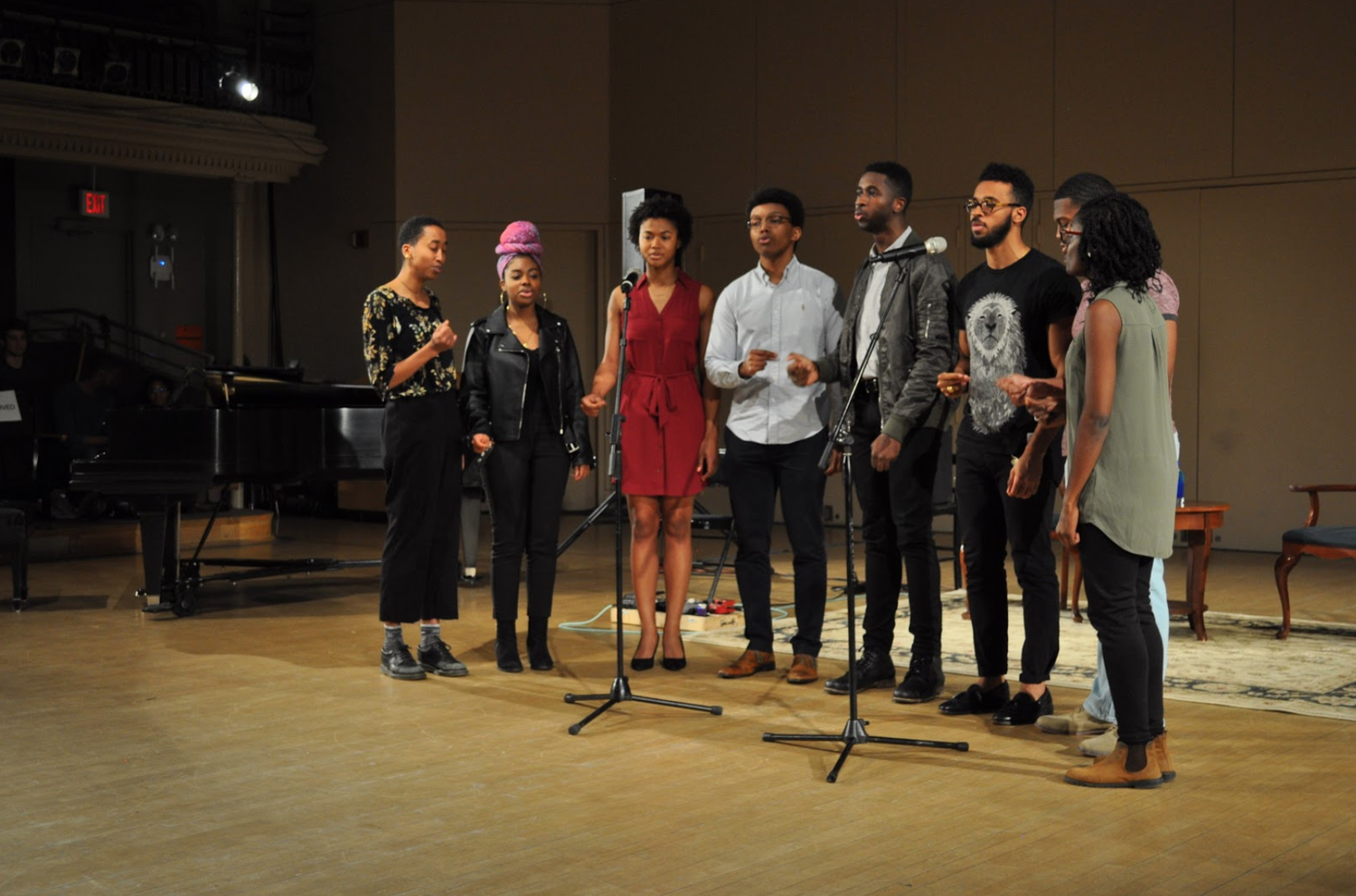 Students perform at the 20th annual Black Arts Festival.