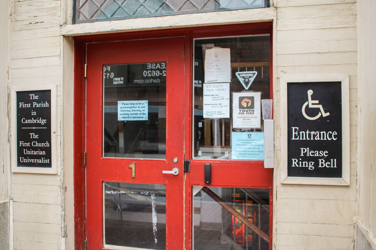Y2Y, a shelter for homeless youth, is located in the basement of First Parish church in Harvard Square.