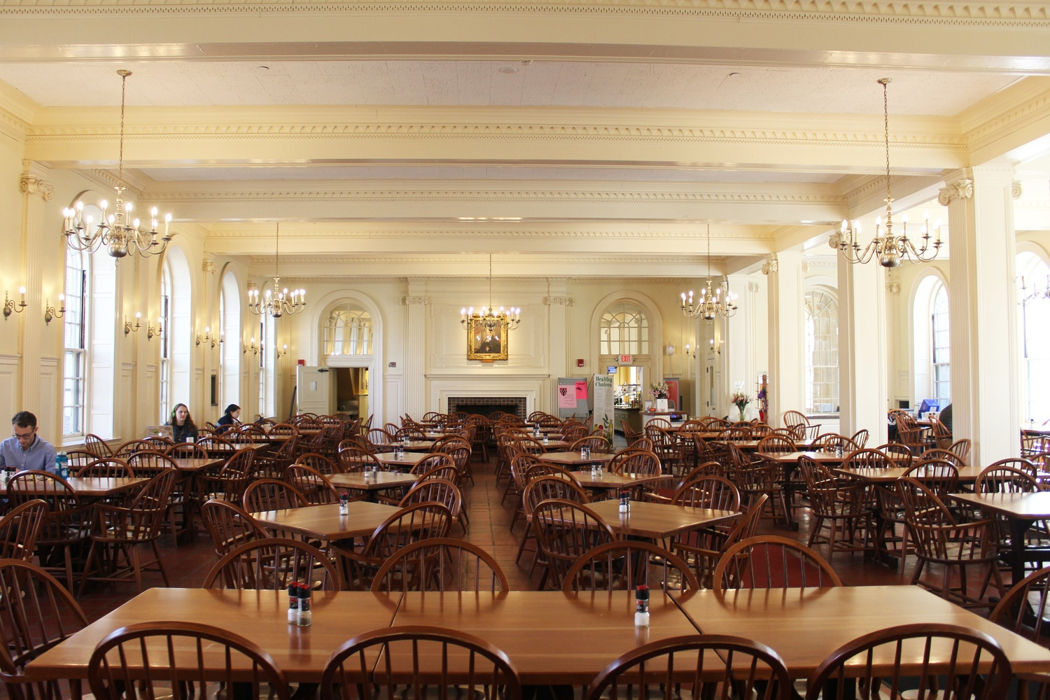 The Kirkland dining hall has also remained open.