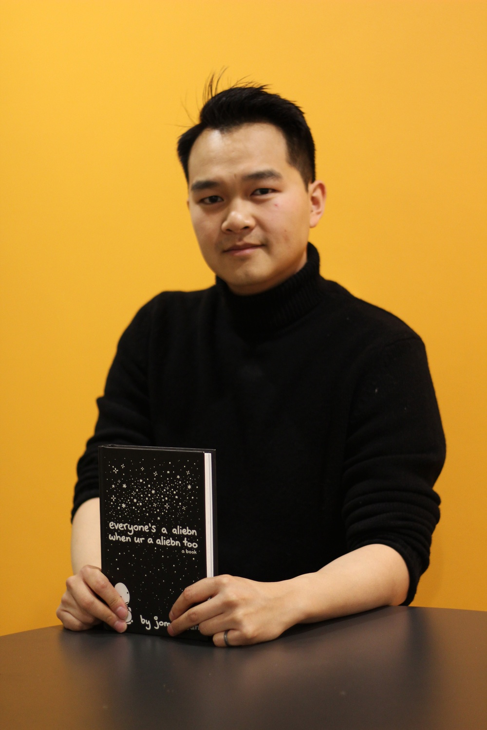 Jonny Sun with Book