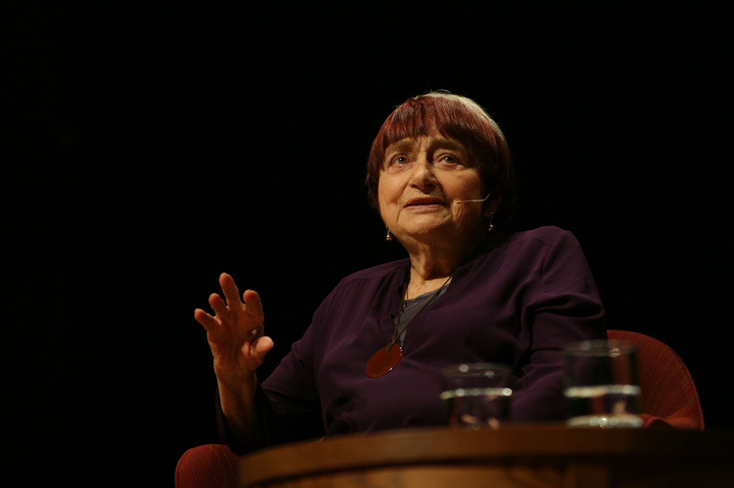 Filmmaker Agnes Varda delivers a Norton Lecture in Sanders Theater.