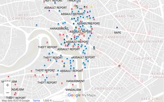 HUPD Crime Data Screenshot