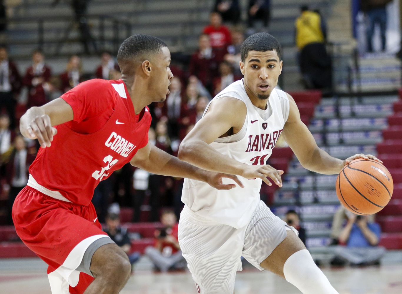Seth Towns, seen here attacking the basket, was the leading scorer in the semifinal game with 24 points.