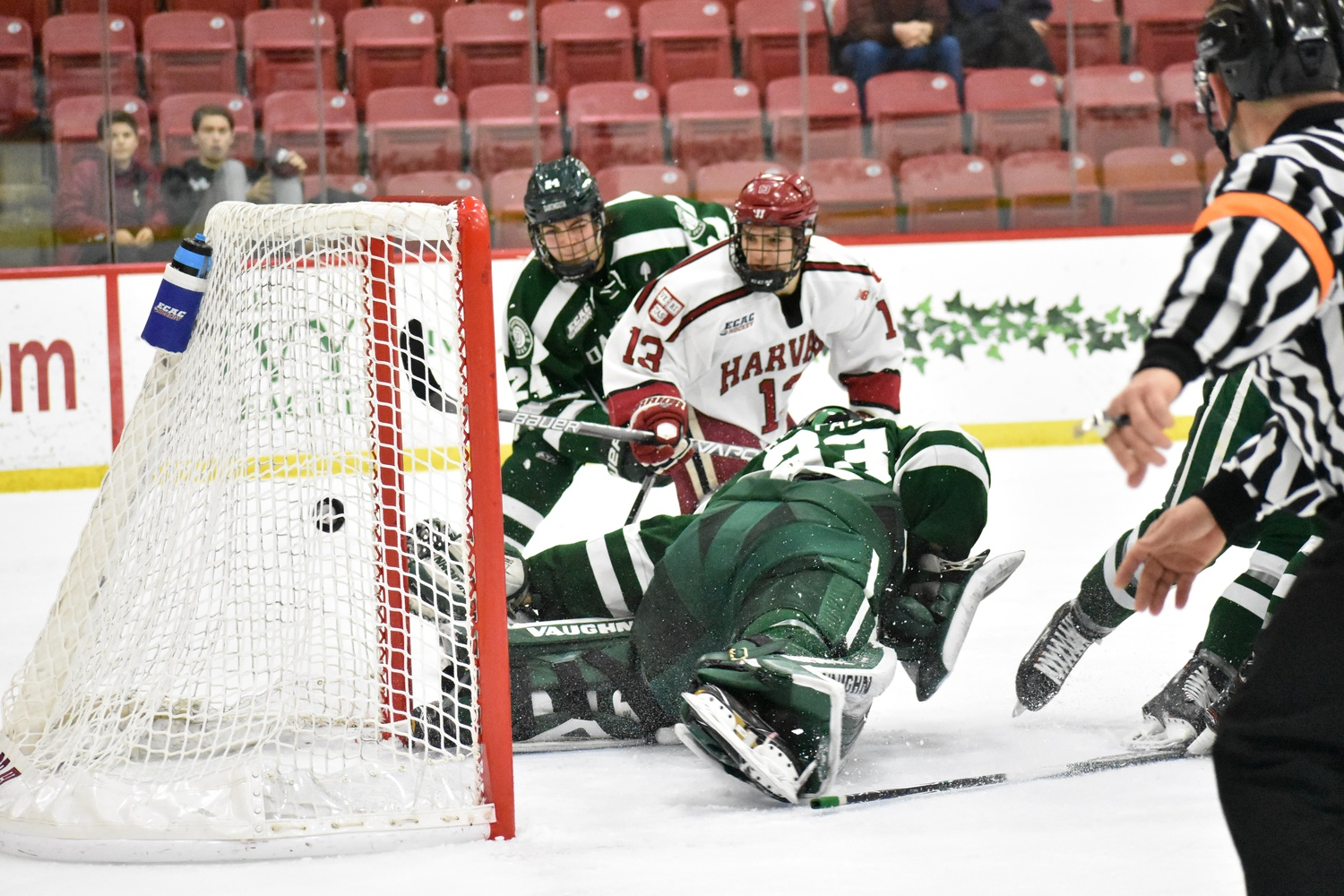 Sophomore Nathan Krusko has notched two goals in the series so far. His tally on Saturday put the Crimson ahead 3-0 near the halfway mark of the second period.