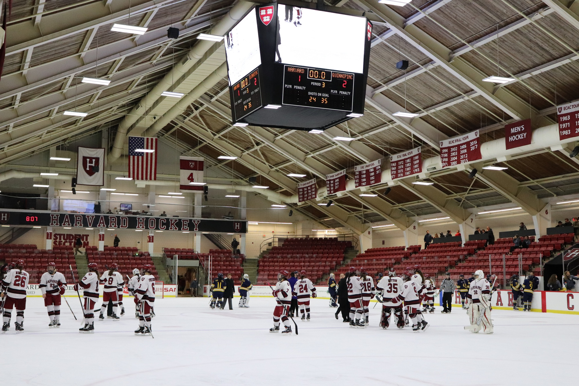Angela Ruggiero played here at Bright-Landry Hockey Rink for four years, graduating in 2004.