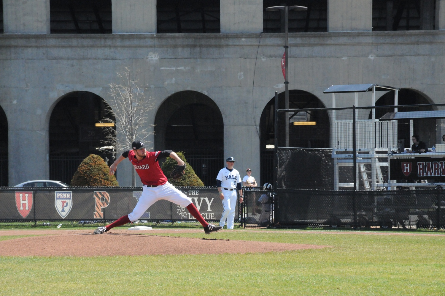 Junior righty Simon Rosenblum-Larson led Harvard to its lone victory of its spring break road trip in the Carolinas with a three-hitter complete game.