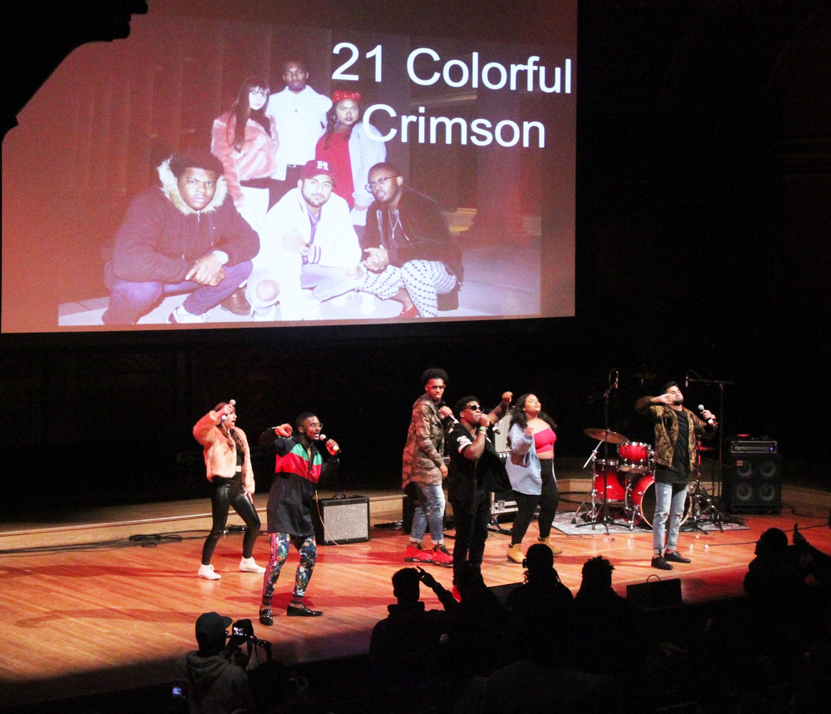 Student band 21 Colorful Crimson performed at the Battle for Yardfest Thursday night where they won the chance to open at Yardfest.