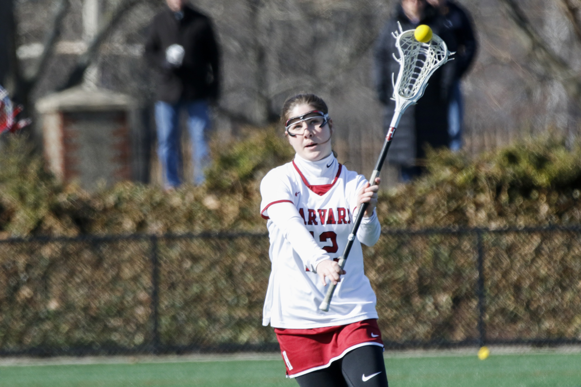 Senior attacker Eliza Guild recorded two ground balls in Harvard's 22-17 loss to UMass.