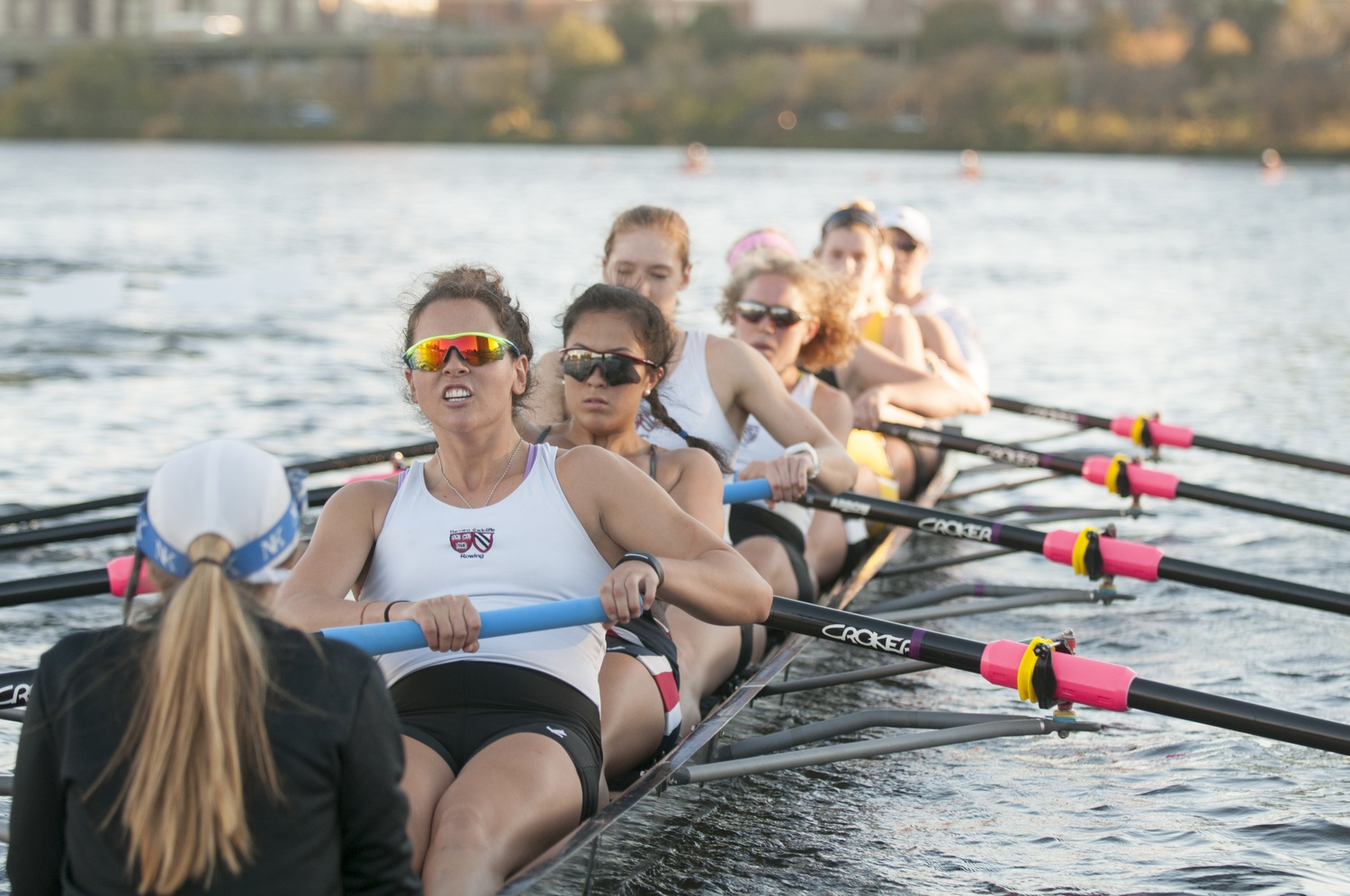 In the 10 races, the Harvard-Radcliffe heavyweight crew defeated Michigan State in four but dropped all five to Ohio State.